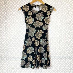 EUC Aritzia Talula Black Floral Palmetto Dress
